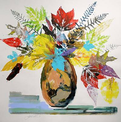 Art Print featuring the painting Leaves And Fronds by John Williams