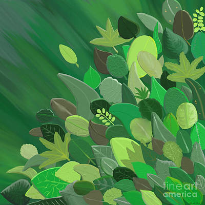 Painting - Leaves Are Awesome by Linda Lees