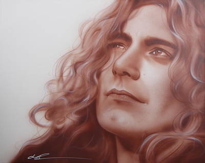 Flower Power Painting - Robert Plant - ' Leaves Are Falling All Around ' by Christian Chapman Art