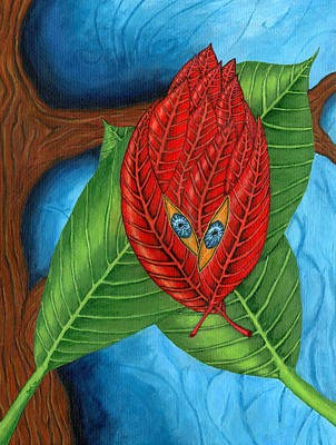 Leave Painting - Leaves by Bart Wiegant