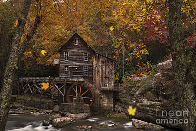 Photograph - Leaves Falling At Grist Mill by Dan Friend