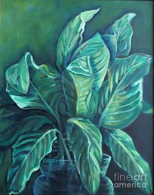 Painting - Leaves In A Vase by Ellen Howell