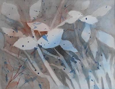 Leaves In Blue 2 Art Print