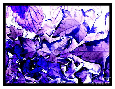 Connecticut Landscape Mixed Media - Leaves In Blue by Patricia Bunk