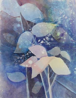 Painting - Leaves In Blue  by Paula Day