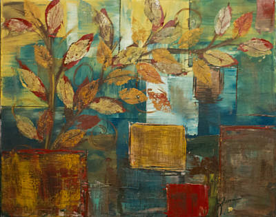 Painting - Leaves by Kathy Sheeran