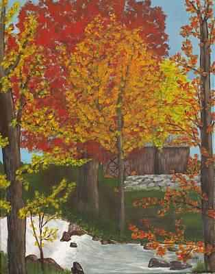 Cynthia Morgan Wall Art - Painting - Leaves Of Change by Cynthia Morgan