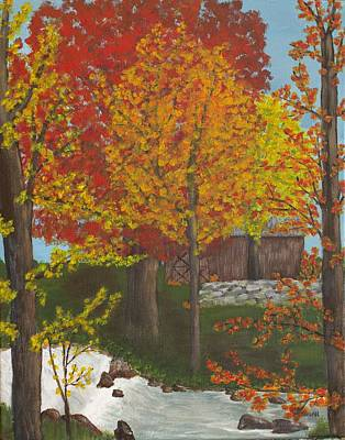 Leaves Of Change Art Print by Cynthia Morgan