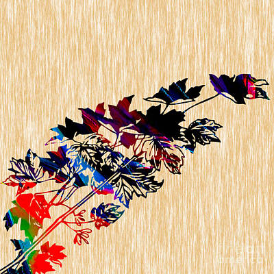 Maple Leaf Art Mixed Media - Leaves Painting by Marvin Blaine