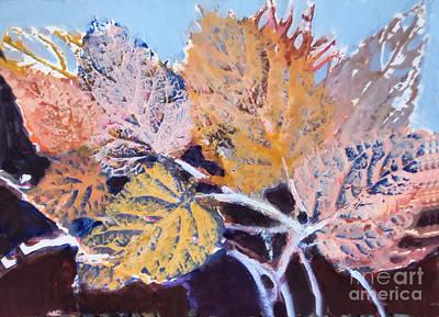 Painting - Leaves Series #1 by Diane Ursin