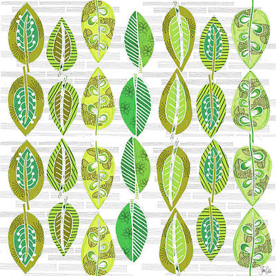 Succulents Painting - Leaves by Shanni Welsh