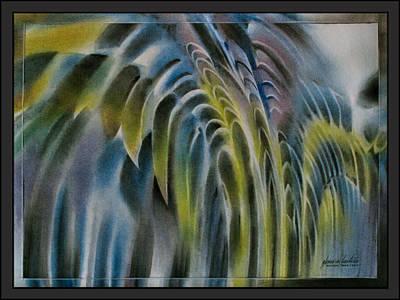 Pastel - Leavescape 2010  by Glenn Bautista