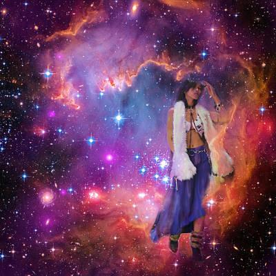 Galactic Mixed Media - Leaving Eagle Nebula After Stars Were Born by Viktor Savchenko