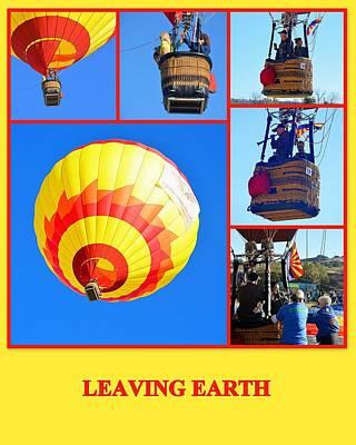 Photograph - Leaving Earth by AJ  Schibig