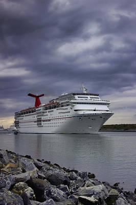 Photograph - Leaving Harbor by Ellen Heaverlo
