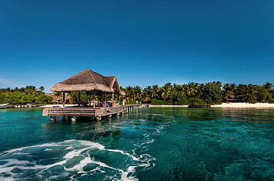 Best Ocean Photograph - Leaving Kuramathi Resort. Maldives by Jenny Rainbow