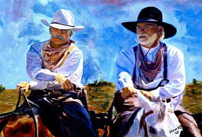 Lonesome Painting - Leaving Lonesome Dove by Peter Nowell