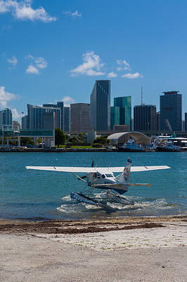 Photograph - Leaving Miami Seaplane Base by Ed Gleichman