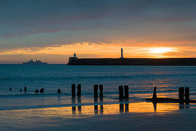 Beach Royalty-Free and Rights-Managed Images - Leaving Port by Dave Bowman
