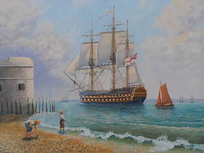 Leaving Portsmouth Harbour Original by Elaine Jones