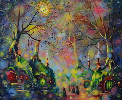 Leaving The Shire Art Print by Joe Gilronan