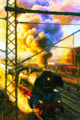 Digital Art - Leaving The Station by Chuck Mountain