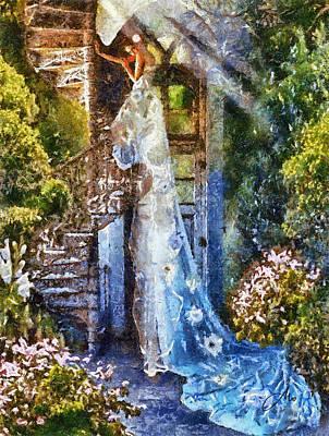 Leaving Wonderland Art Print by Mo T