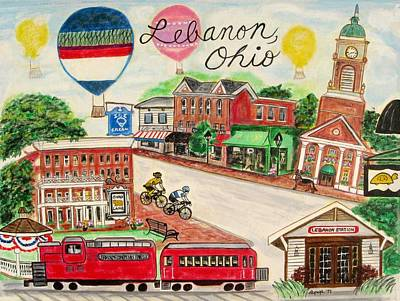 Painting - Lebanon Ohio by Diane Pape
