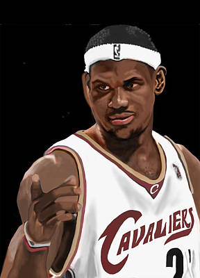Athletes Royalty-Free and Rights-Managed Images - Lebron by Cheri Homaee
