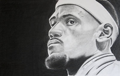 Lebron Drawing - Lebron by Don Medina