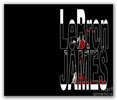 James Mixed Media - Lebron James by Marvin Blaine