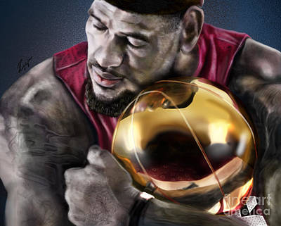 Lebron James - My Way Art Print by Reggie Duffie