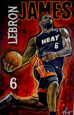 Lebron James Oil Painting-original Original by Dan Troyer