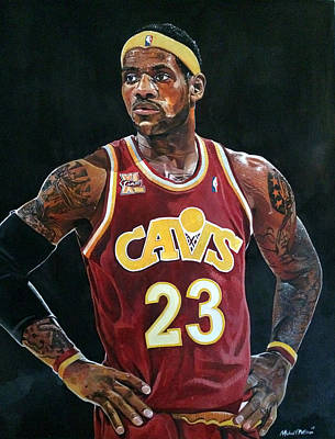 Big 3 Painting - Lebron James Returns To The Cleveland Cavaliers by Michael  Pattison