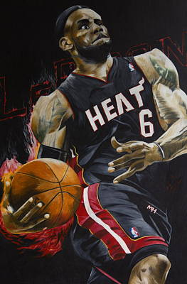 Lebron James Drawing - Lebron James by Ryan Doray