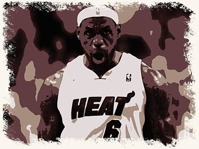 Lebron Painting - Lebron James Victory Celebration by Florian Rodarte