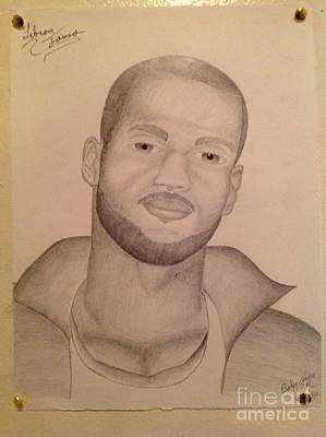 Hip Drawing - Lebron James by Young CHOICE