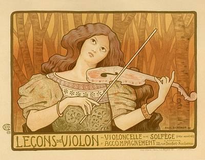 Lecons De Violon Art Print by Gianfranco Weiss