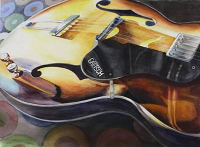 Gretsch Painting - Lectric by Donna MacLure