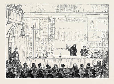 Electricity Drawing - Lecture At The Charterhouse On Stephen Grays Discoveries by English School