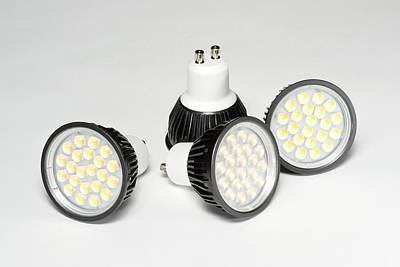 Led Light Bulbs Art Print by Science Photo Library