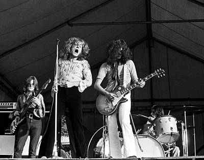 Robert Plant Photograph - Led Zeppelin Bath Festival 1969 by Chris Walter