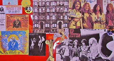 Led Zeppelin  Collage Number Two Art Print by Donna Wilson