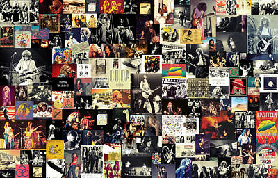 Roll Wall Art - Digital Art - Led Zeppelin Collage by Zapista