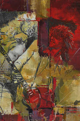 Jimmy Page Painting - Led Zeppelin by Corporate Art Task Force