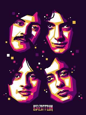 Jimmy Page Digital Art - Led Zeppelin by Fikri Hamzent