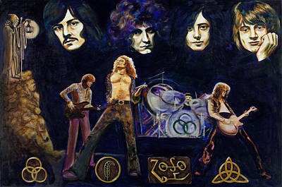 Led Zeppelin Painting - Led Zeppelin Four by Charles  Bickel
