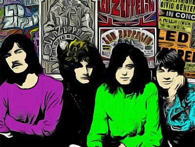 Robert Plant Digital Art - Led Zeppelin by GR Cotler