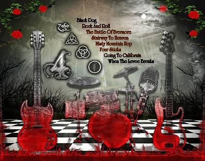 Digital Art - Led Zeppelin Iv by Michael Damiani