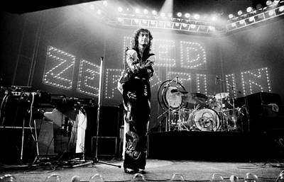 Jimmy Page Photograph - Led Zeppelin Lights 1975 by Chris Walter